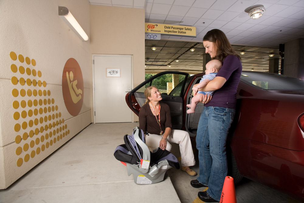 """ Child Passenger Safety Inspection Station at American Family Children's Hospital "" by  UW Health  ( CC BY-NC-ND 2.0 )"