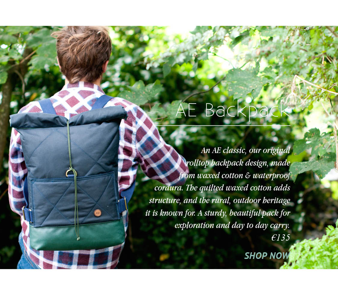 Waxed Cotton Rolltop Backpack