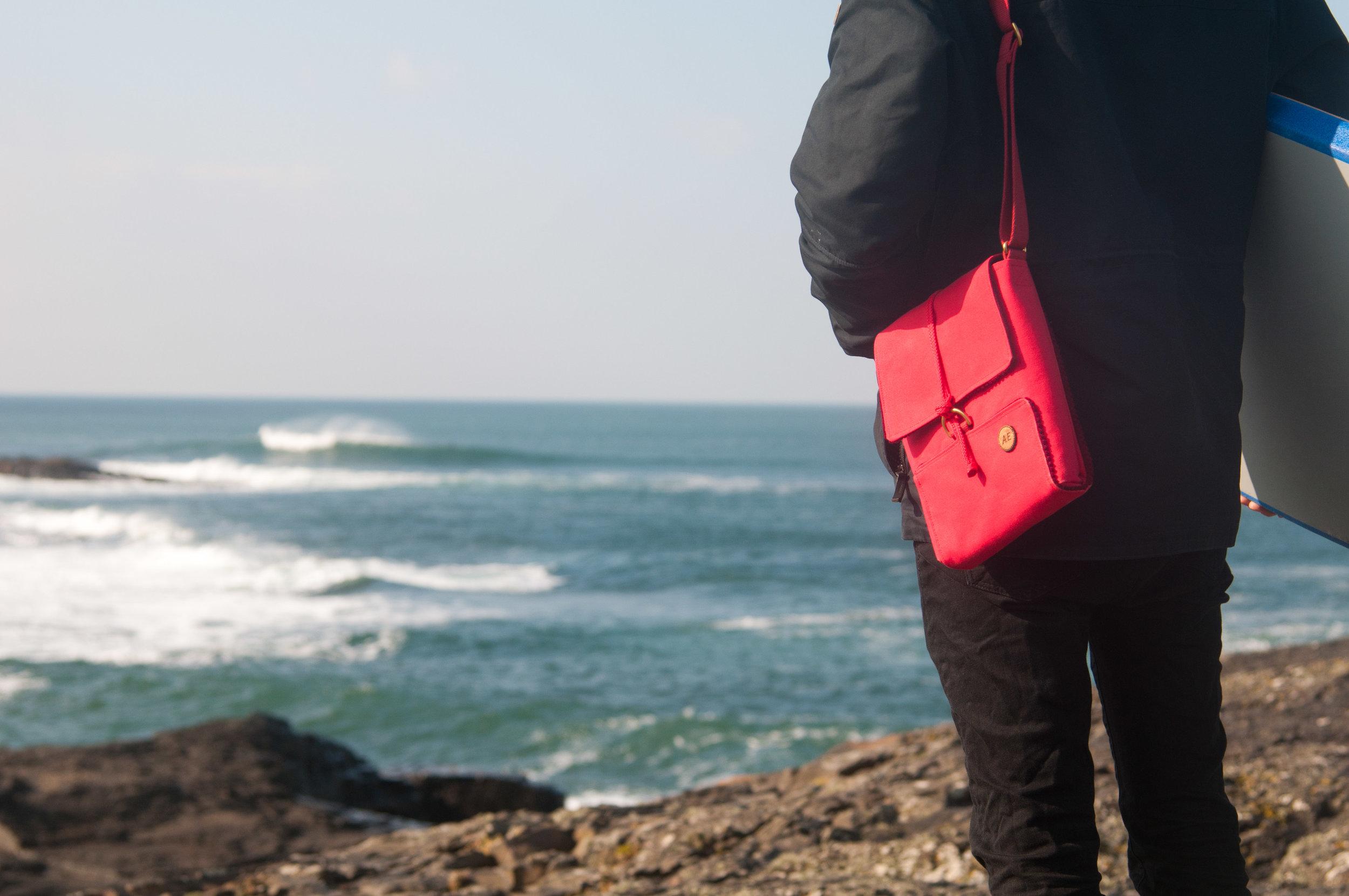 red field satchel