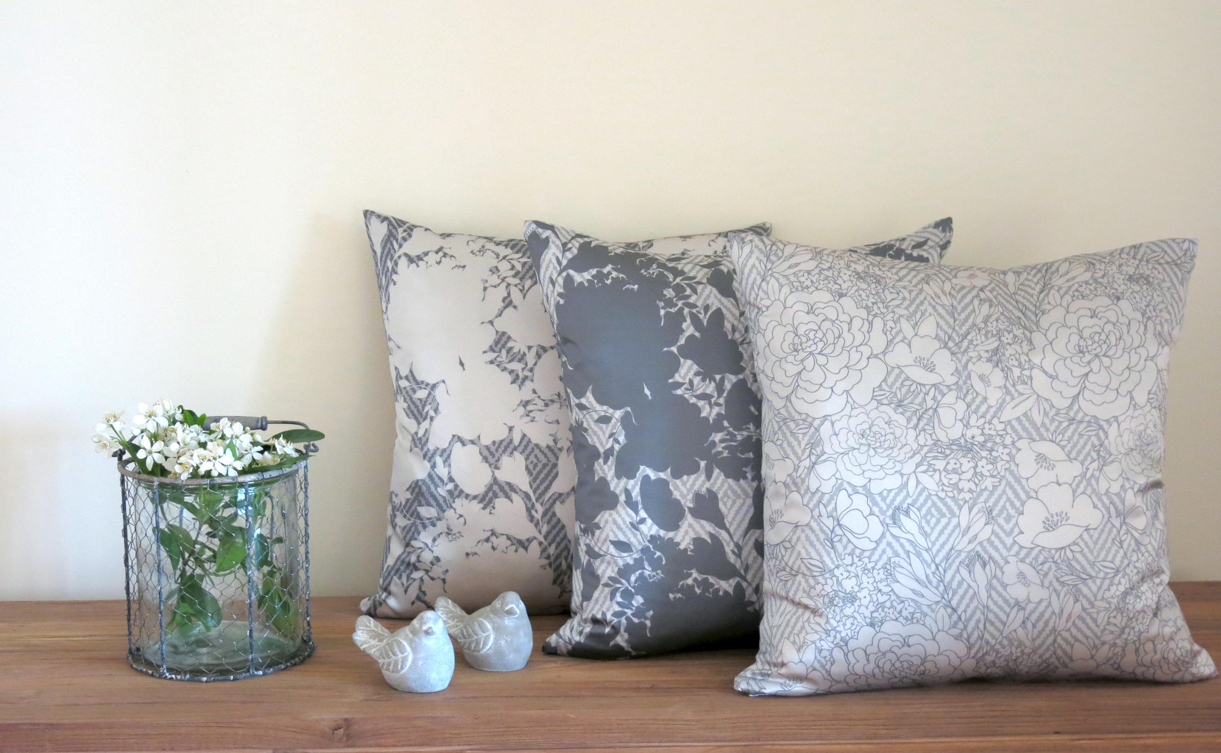 Olivia Grey Cushion Range