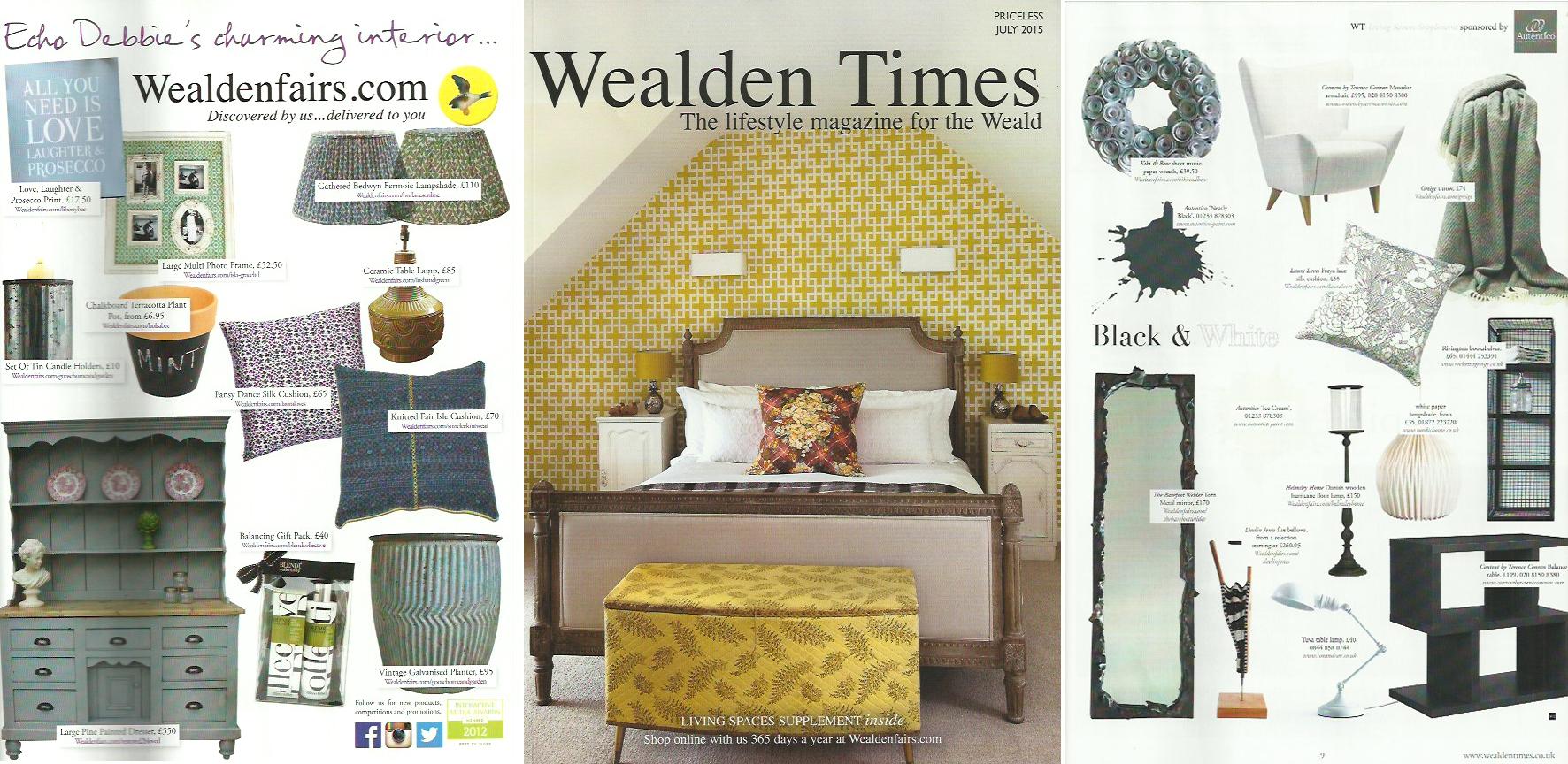 Lauraloves cushions -  Wealden Times Magazine July