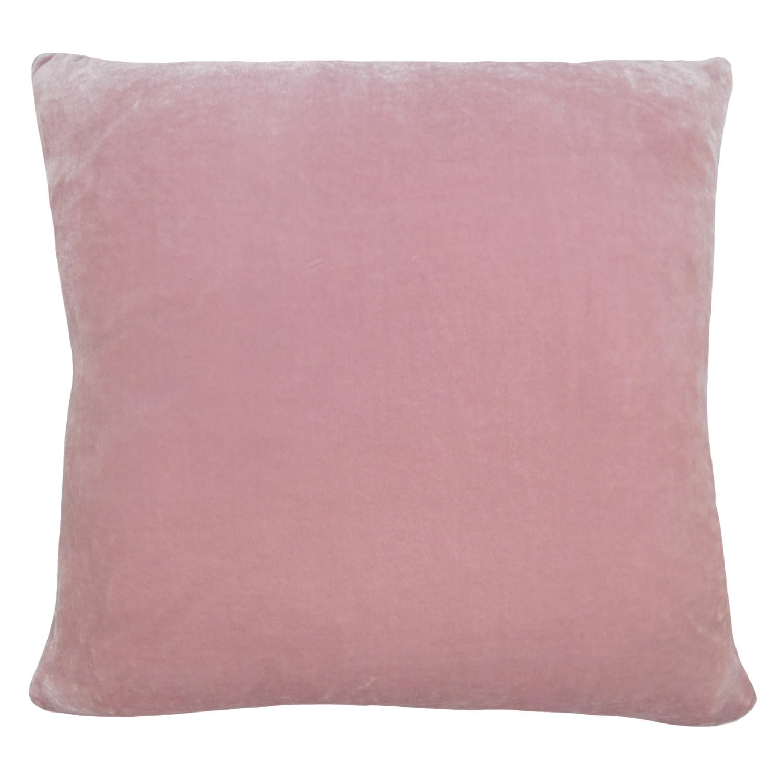 Evelyn Leaf Silk Velvet Cushion Pale Pink Grey Lauraloves