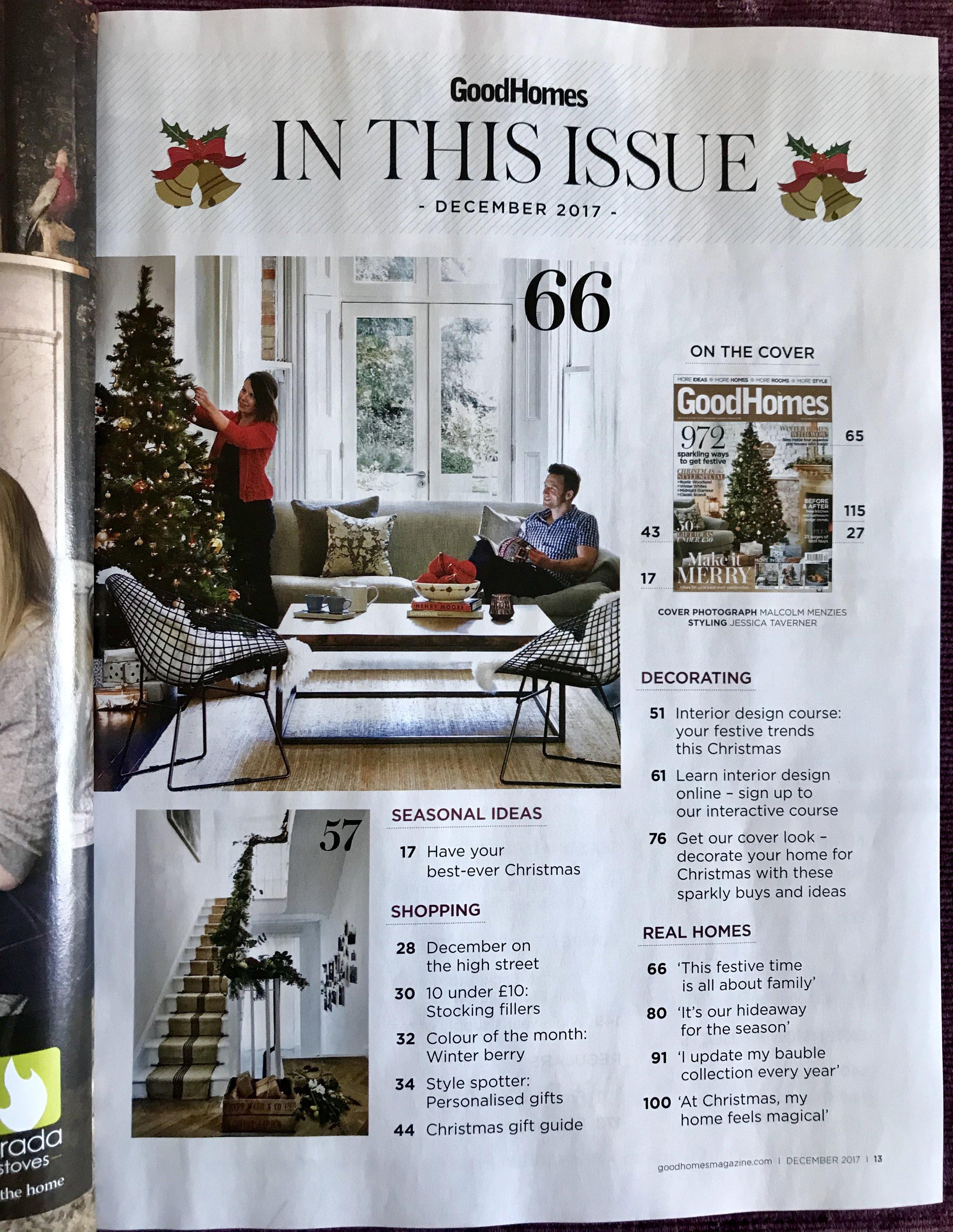 Good Homes Magazine Christmas Interiors Lauraloves Silk Cushions
