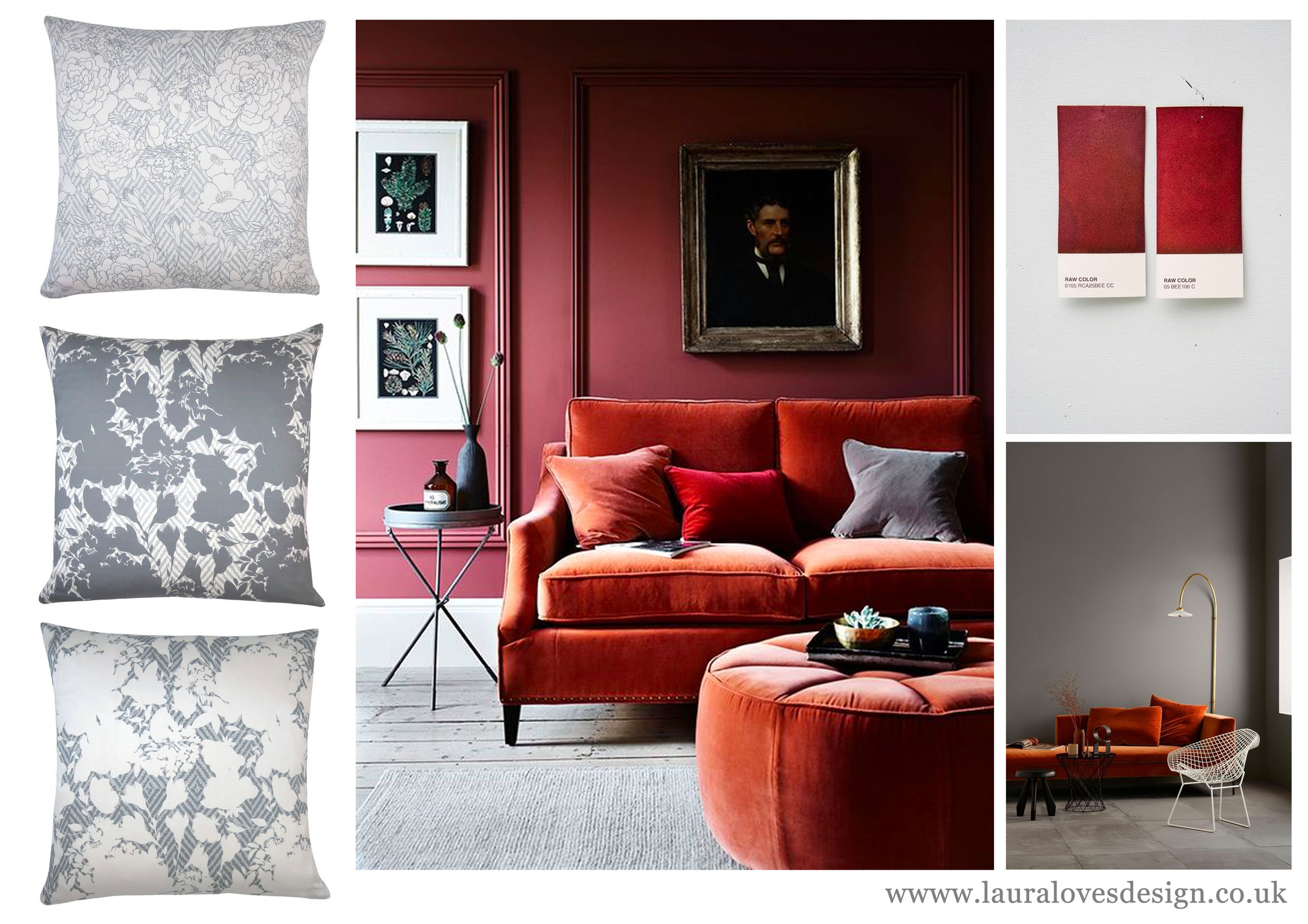 rusty-orange-red-grey-bold-interiors-2018-colour-trends-olivia-grey-cushions-fabric-designed-by-lauraloves-design-hand-made-hand-drawn-design.jpg