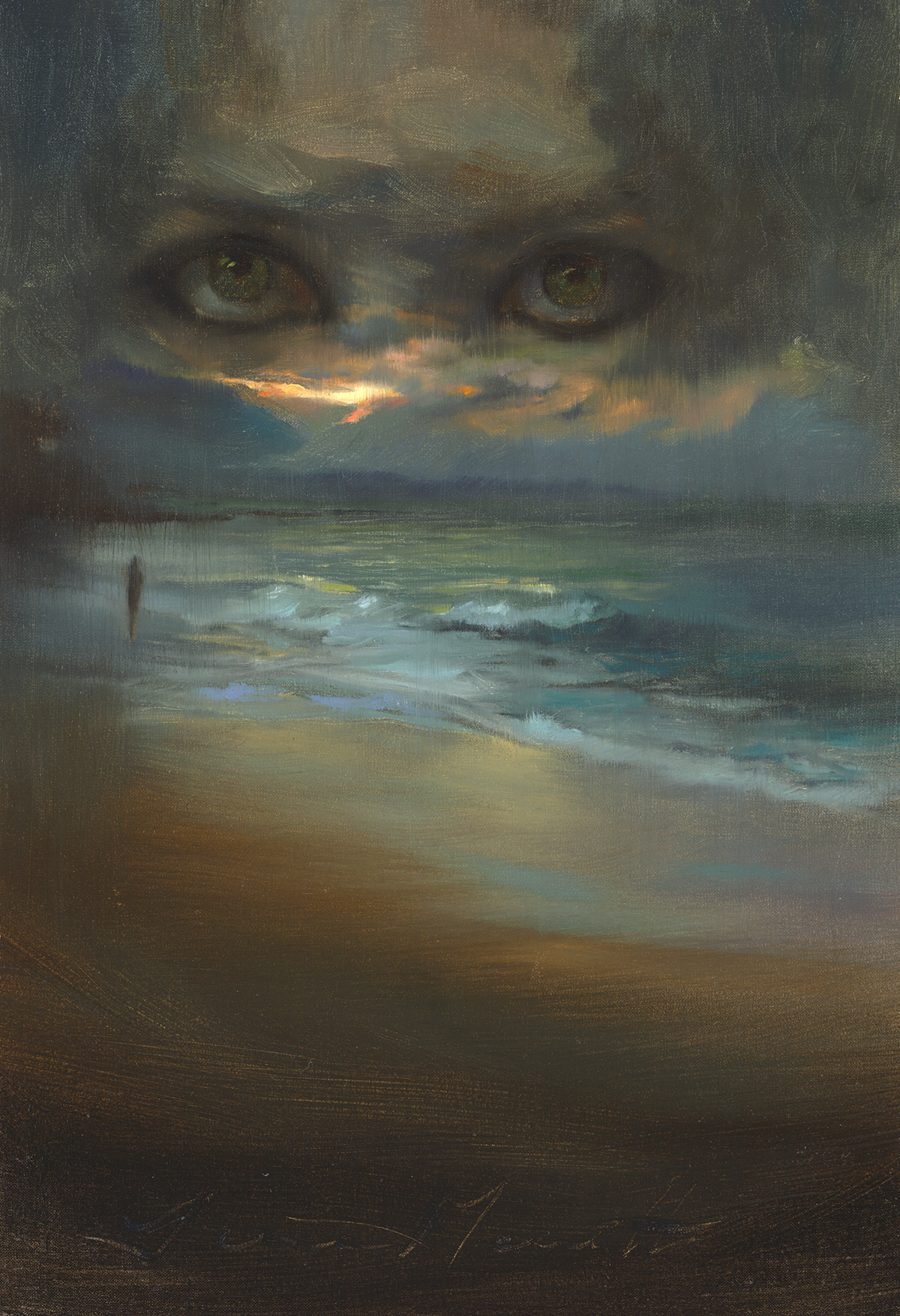 "This original 16x11 inch oil painting, ""Eyes In The Skies"", created especially for Hannah's Diary, is available to add to your collection."