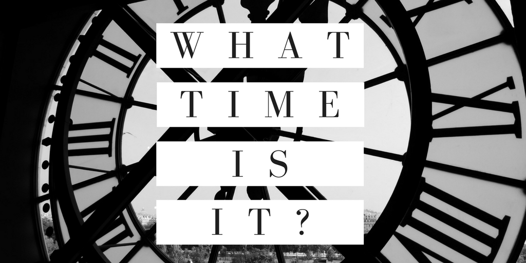 What Time Is It? A Sermon by Peter Rhea Jones.
