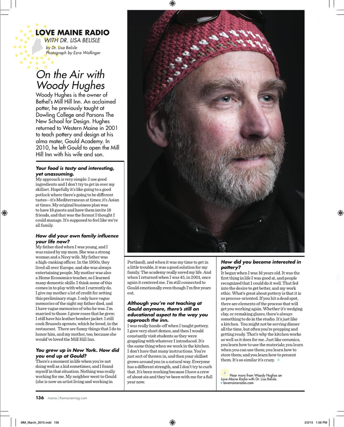Woody Hughes Profile: Maine magazine