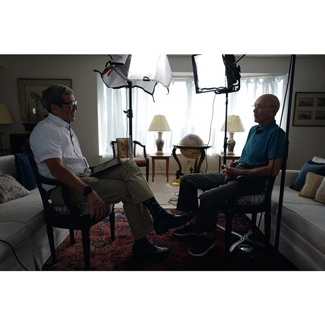 @milesobrien sitting down with Apollo 11 astronaut Michael Collins for the 50th anniversary of the Moon landing |  #Leica #somewheremagazine #LeicaQ #pbs #newshour #ifyouleave #myfeatureshoot #imaginarymagnitude #dreamermagazine #thinkverylittle #portbox #lensculture #moodygrams #nowherediary #photojournalism #documentary #filmmaker #street #streetphotography