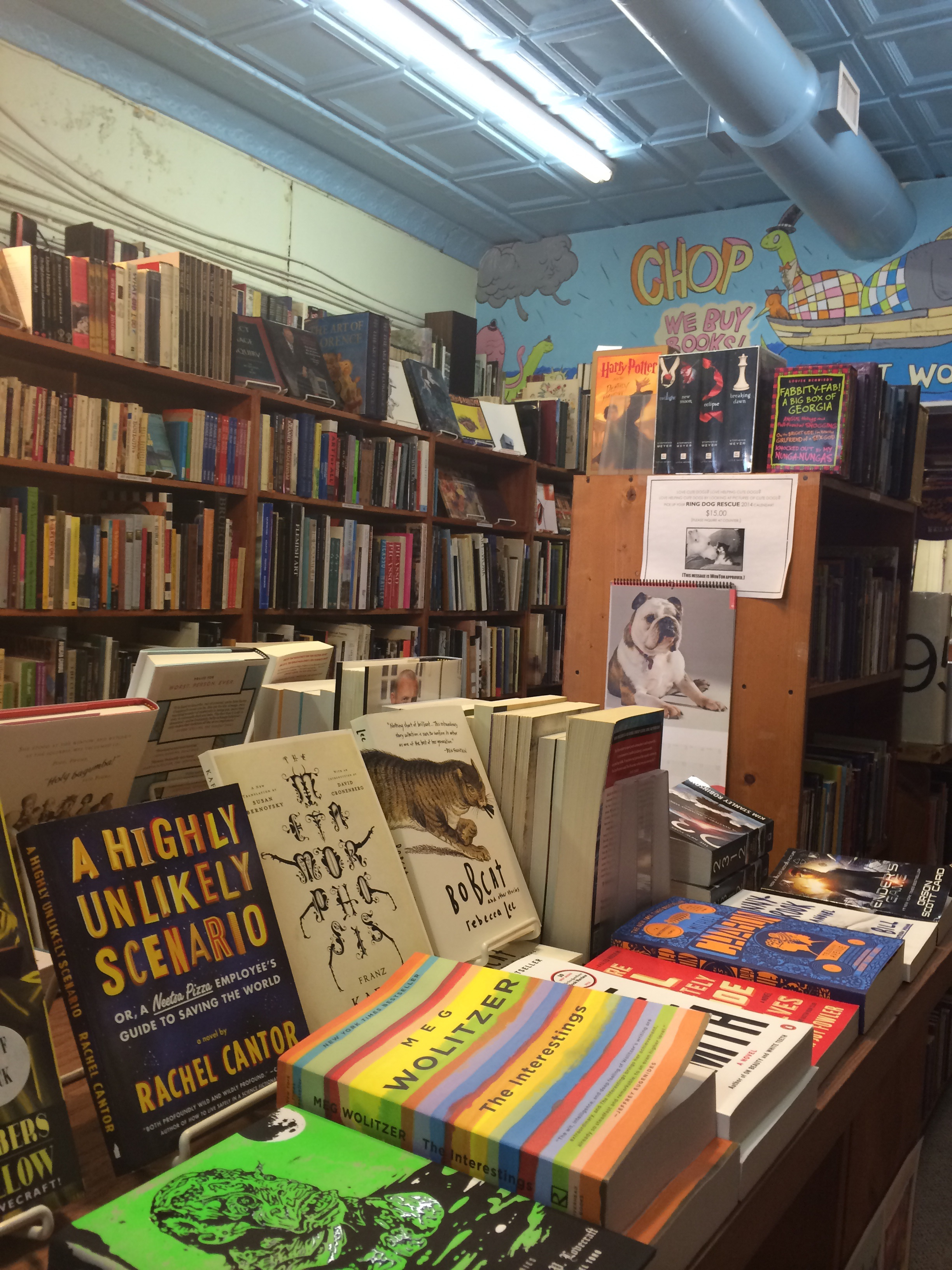 This Carytown bookstore, Chop Suey, is a great place to get lost, surrounded by countless old and new books just begging to be read and explored. A vegan cookbook that had been someone else's now is mine, along with a beautiful Flannery O'Connor book. Happy, happy girl.