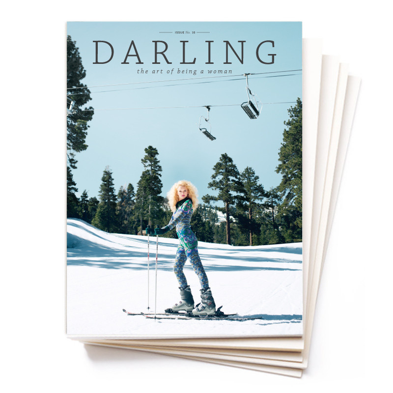 Darling Magazine Quarterly Subscription- $20    Darling Magazine  is absolutely lovely in every way. The photography, the stories, the mission...it's all about the art of being a woman and each one is truly a work of art, not cheap anddisposable like so many other magazines. The magazine is segmented to feature different types of women: dreamer, hostess, confidant, stylist, explorer, beautician, intellectual, and achiever. It's the perfect magazine for every woman.