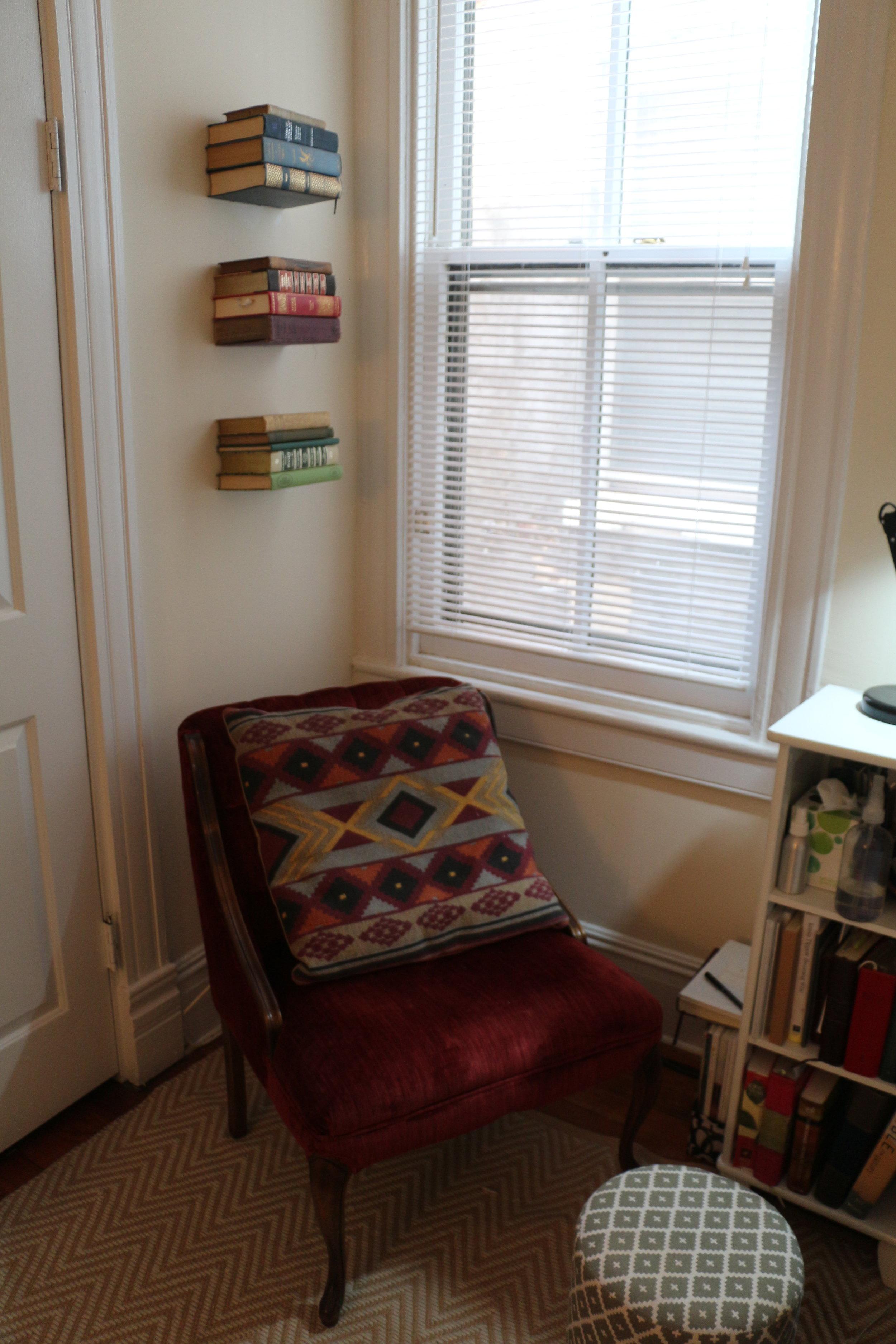 My cozy little reading corner