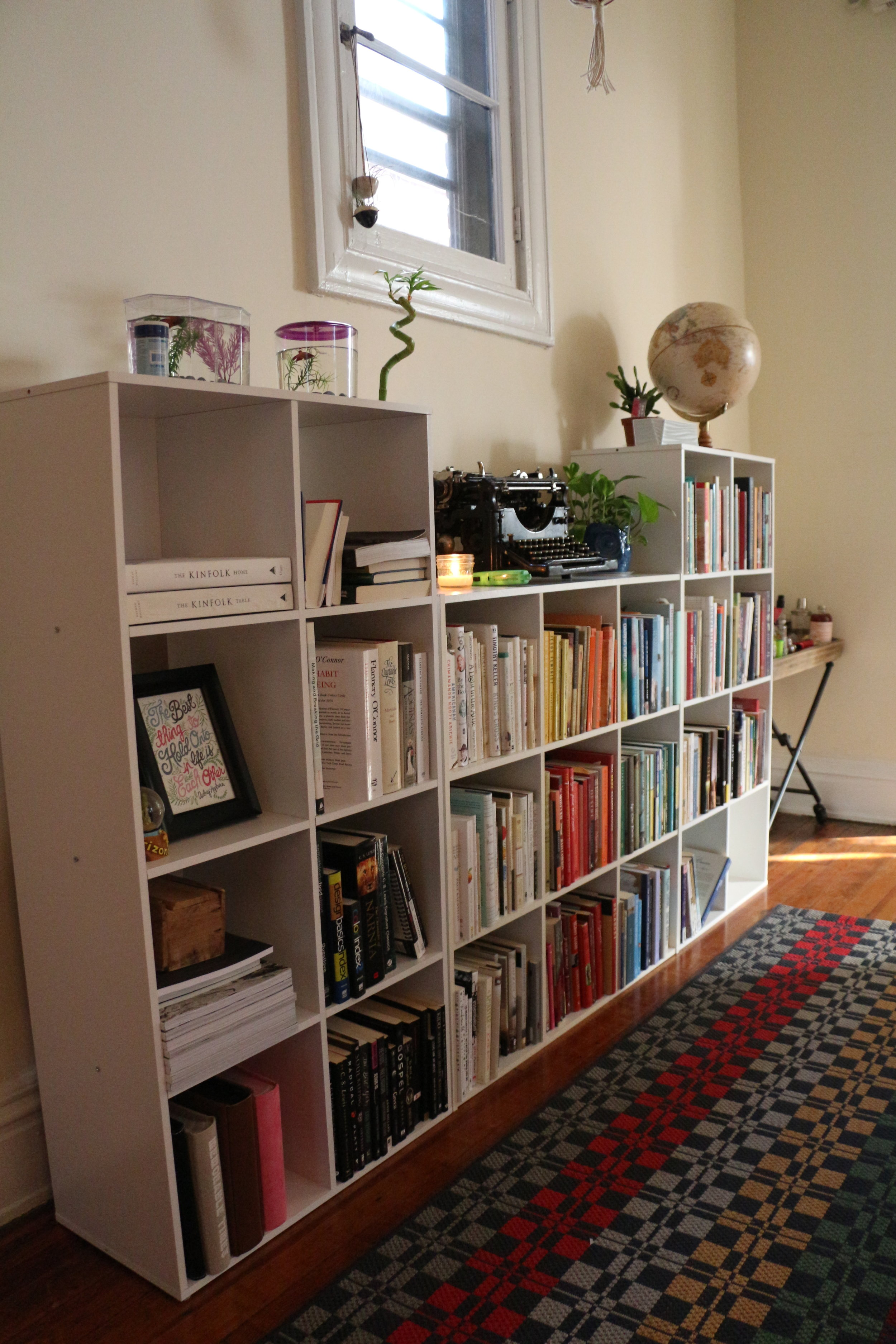 All my books in the hallway outside my room!