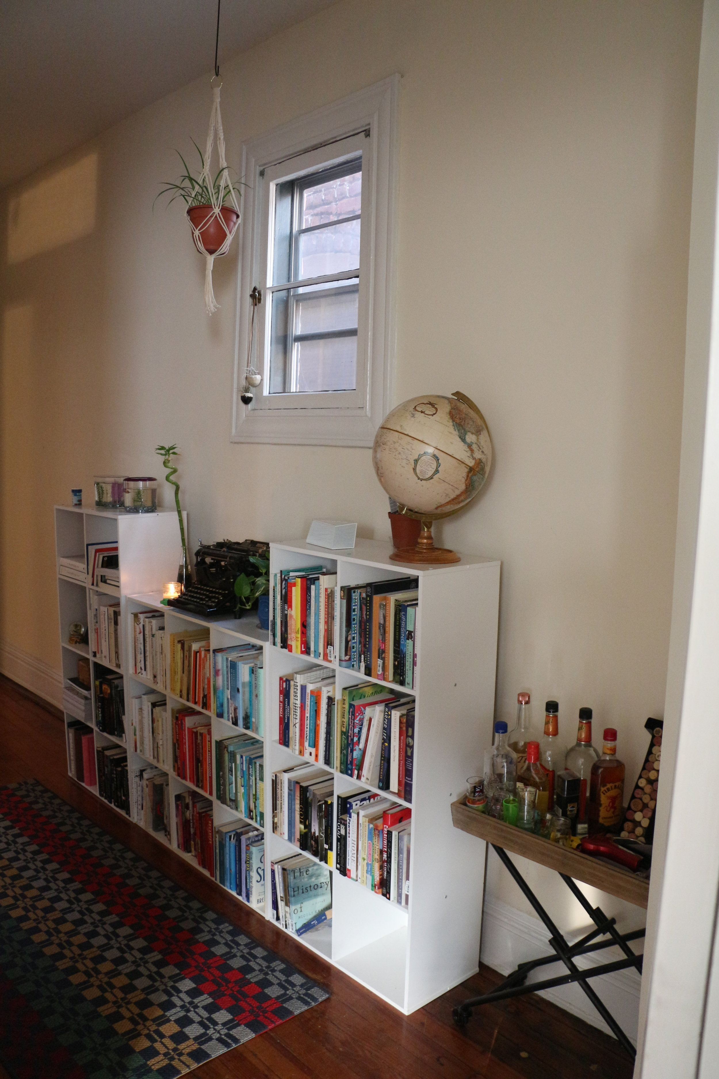 More of the books/bar cart