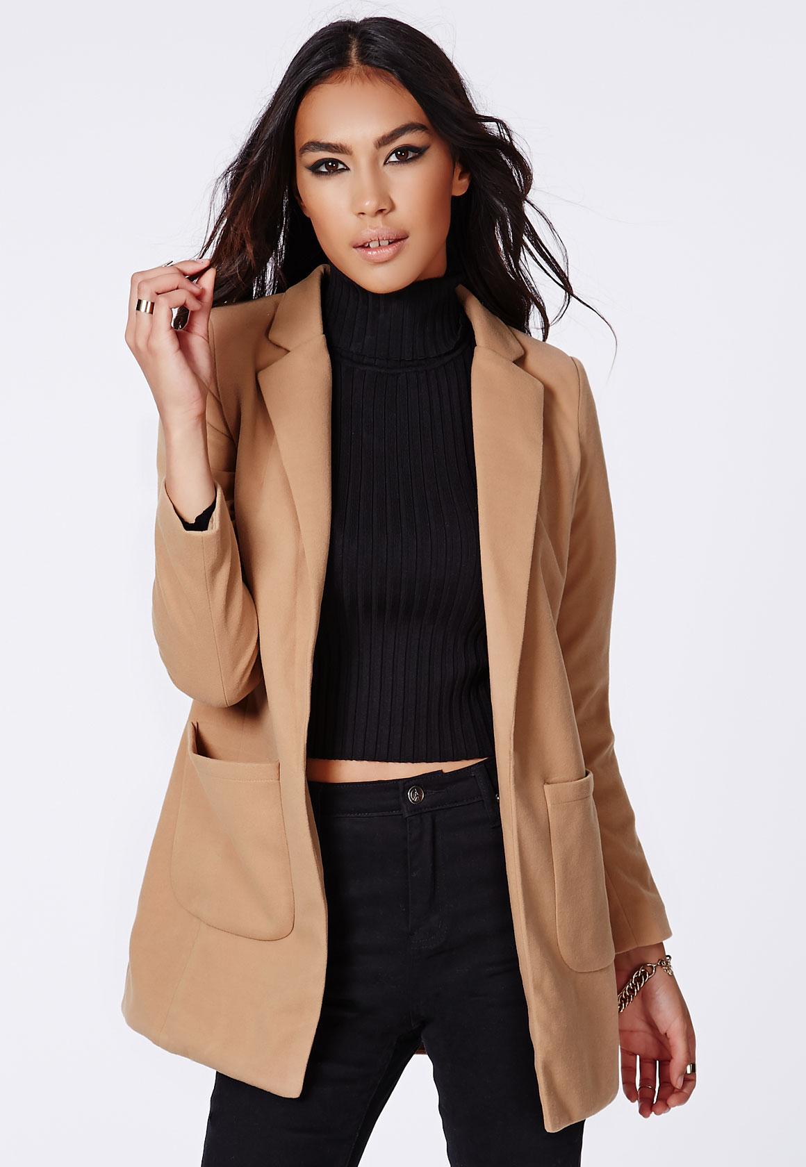 MISSGUIDED Camel Coat