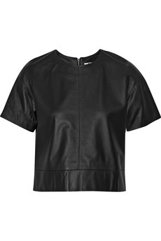 T by Alexander Wang Leather top / THE OUTNET