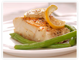 White Ginger Pear Poached Tilapia