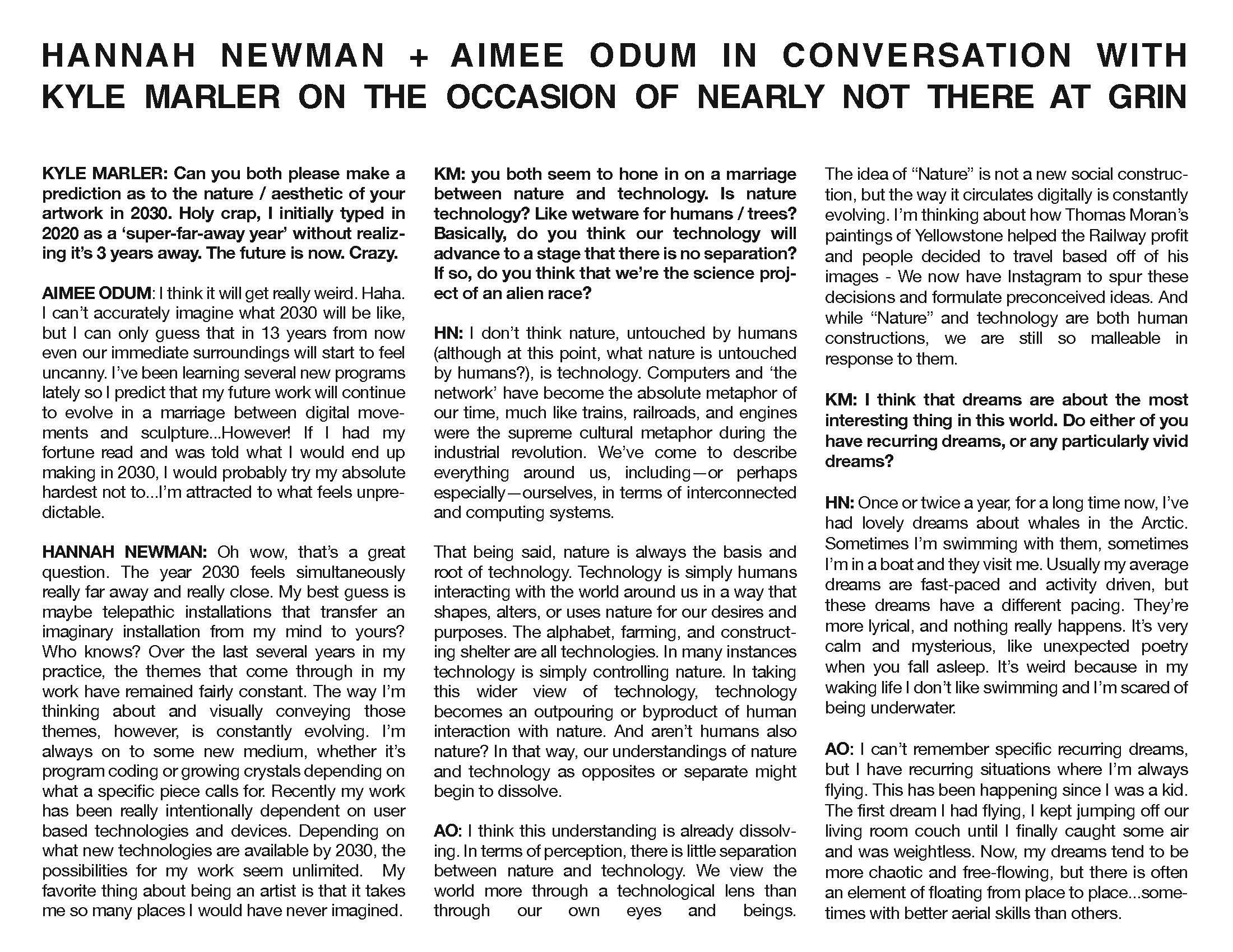 hannah newman — Happening — Aimee Odum