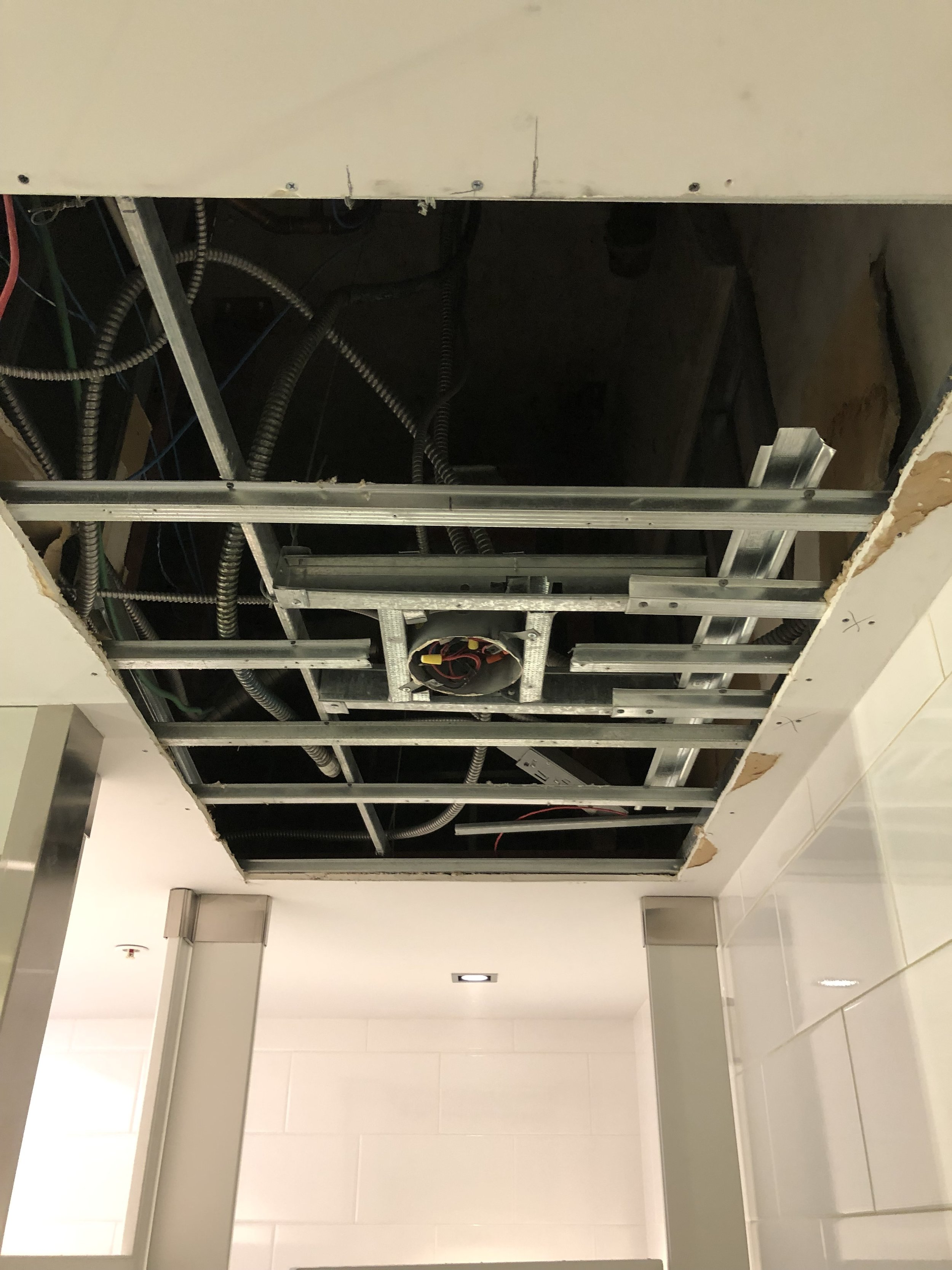 Ceiling removed due to leak