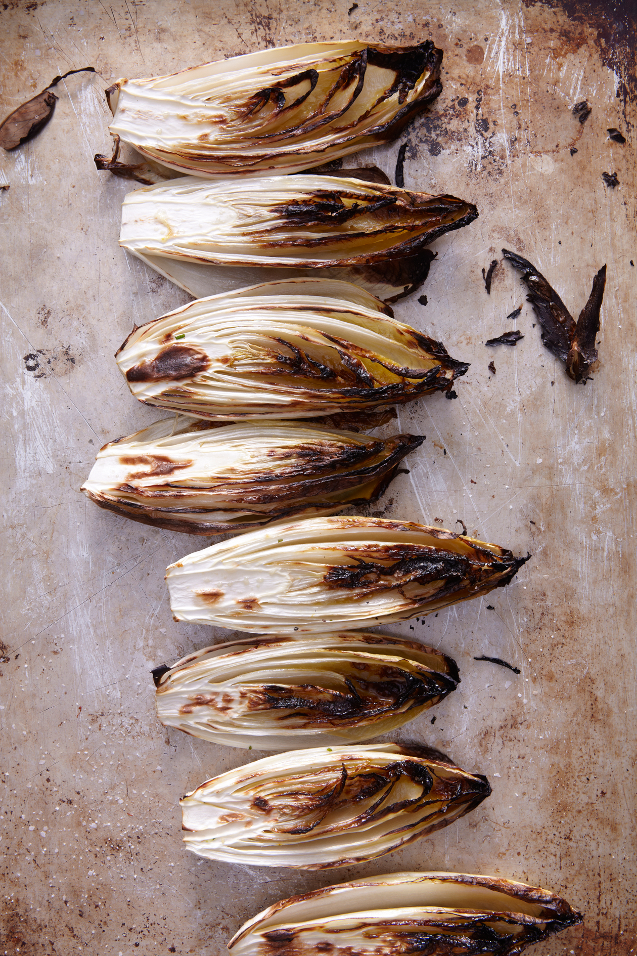 well charred-endive with anchovy butter
