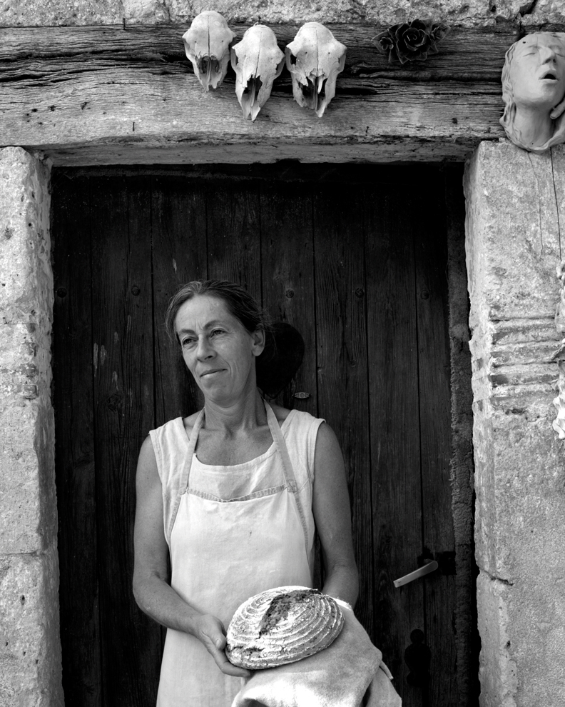"Cecile Berthollet, Baker. Gascony, France.    The Berthellots, who proudly call themselves paysans-boulangers, or ""peasant bakers,"" grow 250 varieties of wheat on their farm for their home-baked bread."