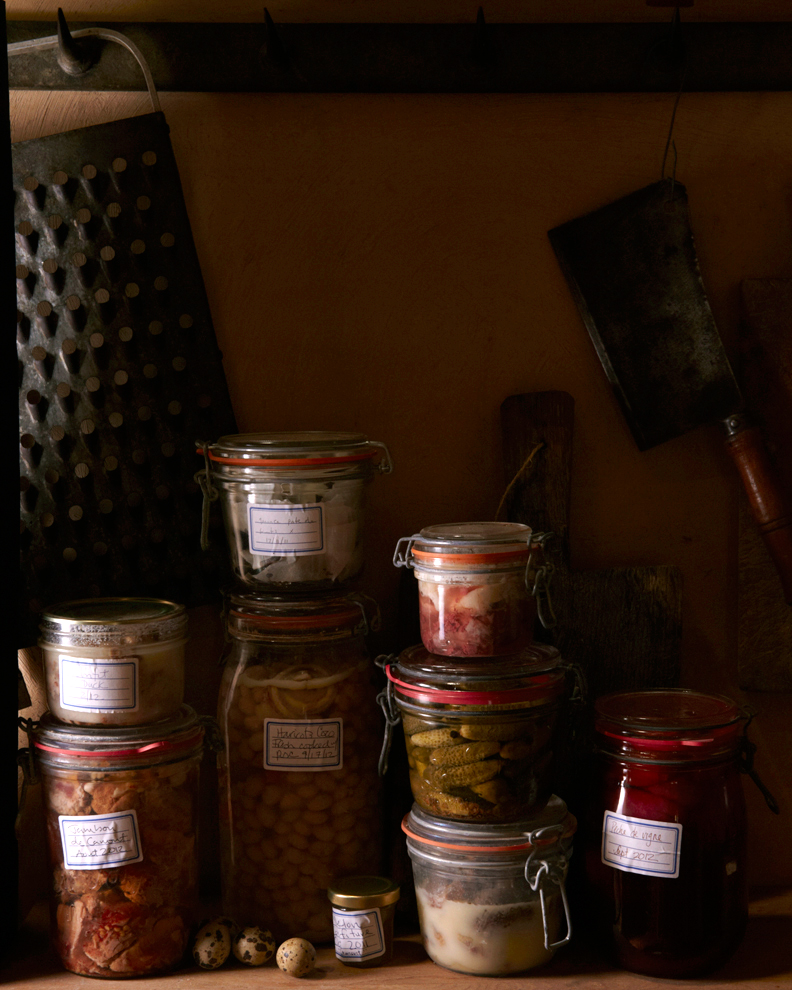 Kate Hill's glorious pantry at Camont. Gascony, France.