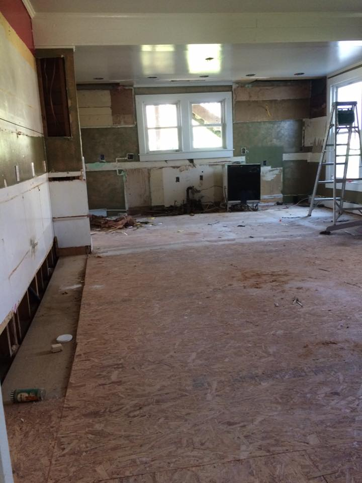 kitchen after demo