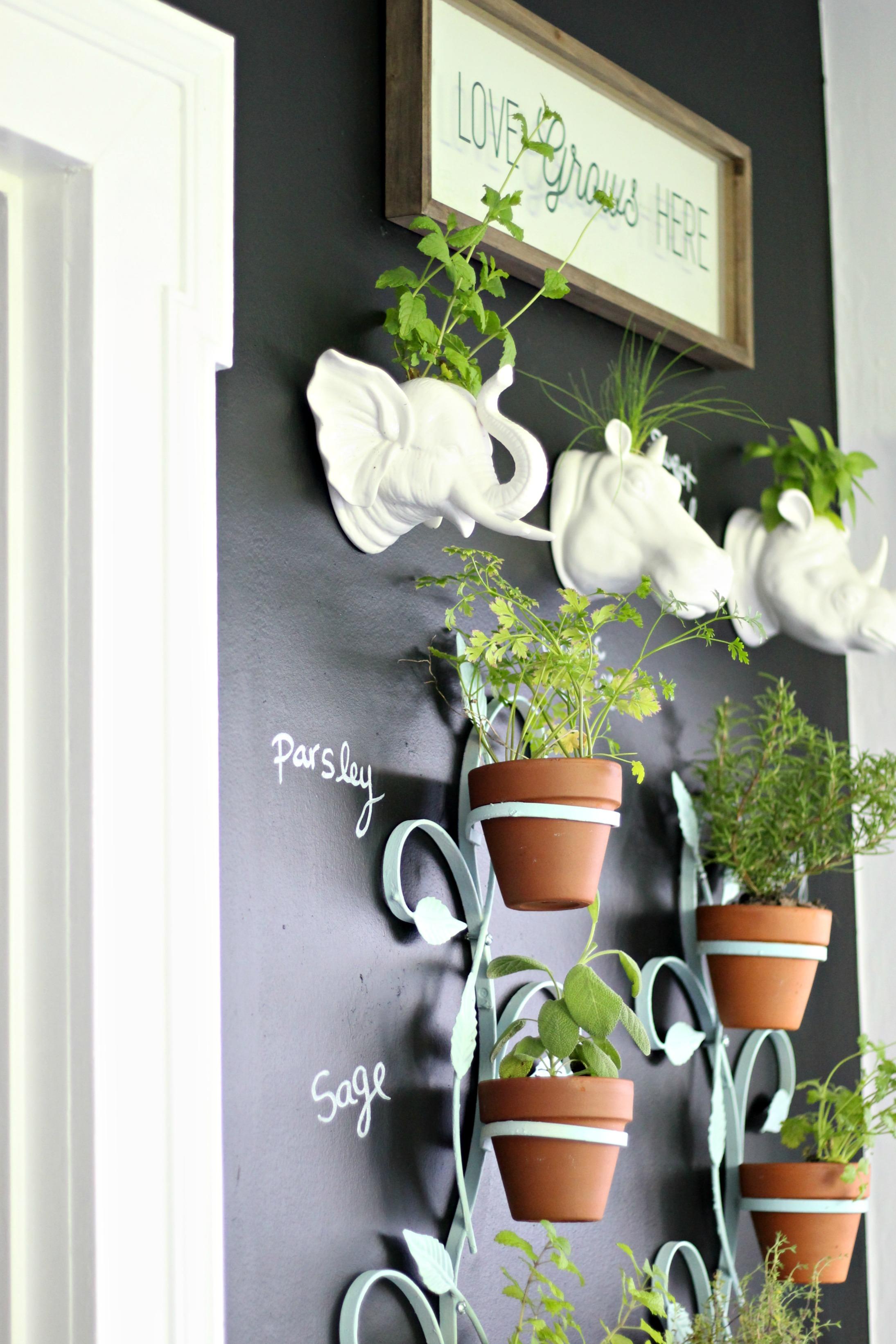 Our Fixer Upper Indoor Vertical Herb Garden Gathered Living