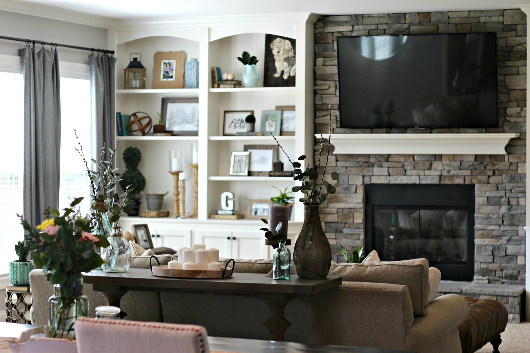 Neutral Modern Living Room Makeover Gathered Living