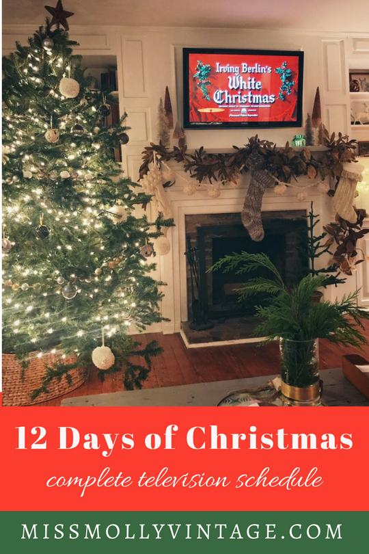 12 days of christmas tv schedule
