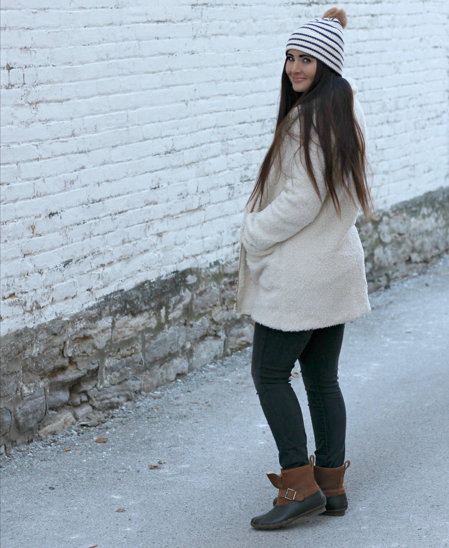 Sherpa Jacket    |   Hat  |   Denim   |   Boots    |   Sweater