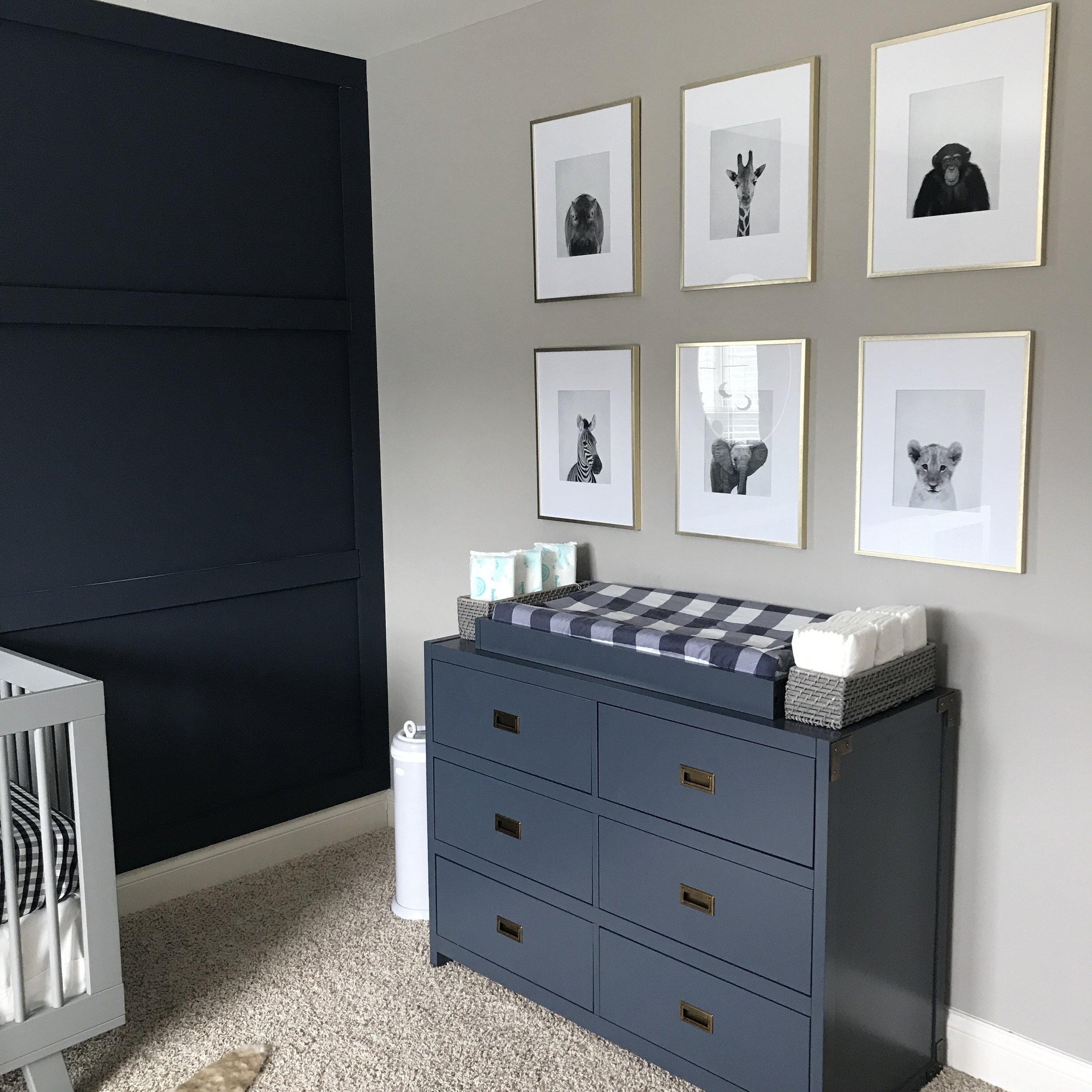 Modern Minimal Nursery Gathered Living