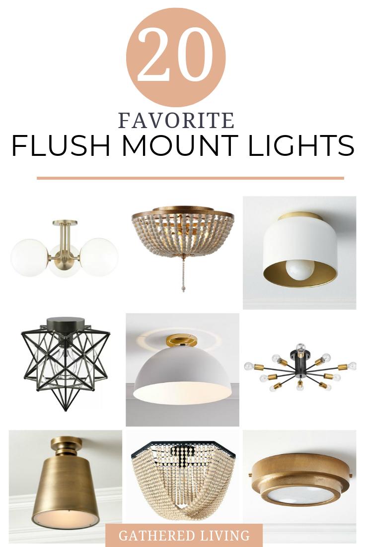 20 favorite flush mount light fixtures| Gathered Living