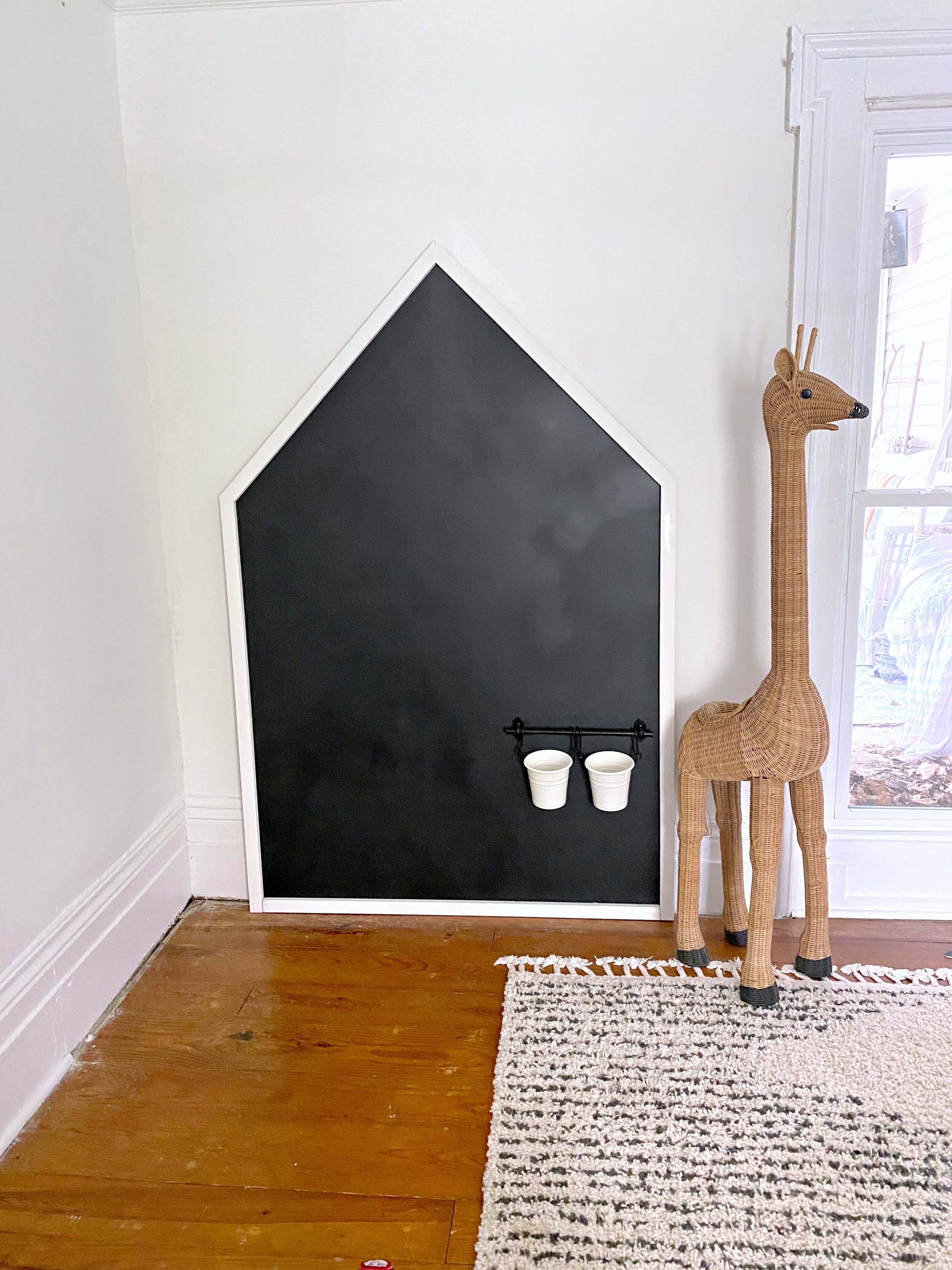 Diy Giant Playroom Chalkboard On A Budget Gathered Living