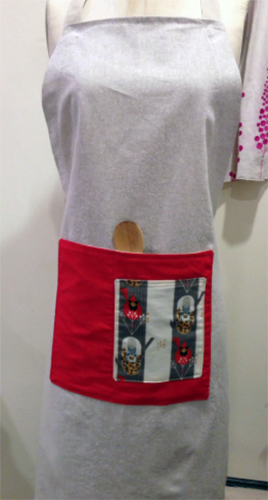 Full apron with October Edibles Pocket