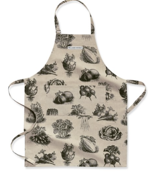 vintage vegetable print in greys from  Williams Sonoma