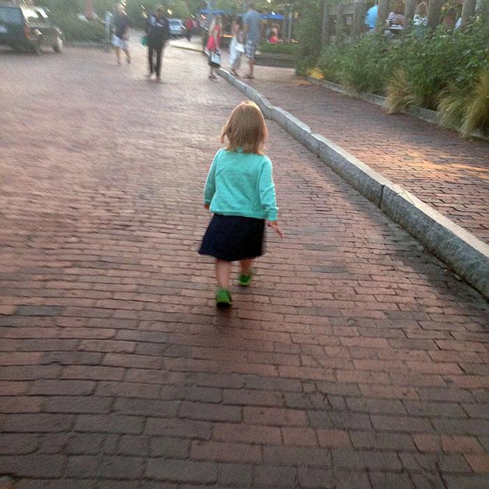Harper walking in town