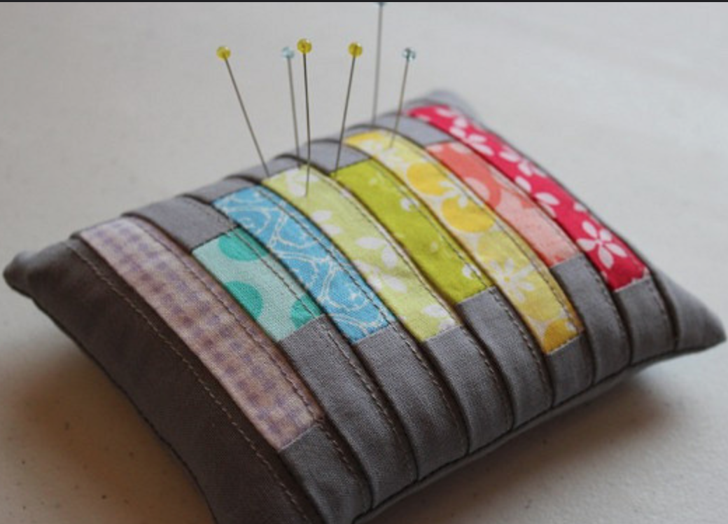 Modern pincushion from Canoe Ridge Creations