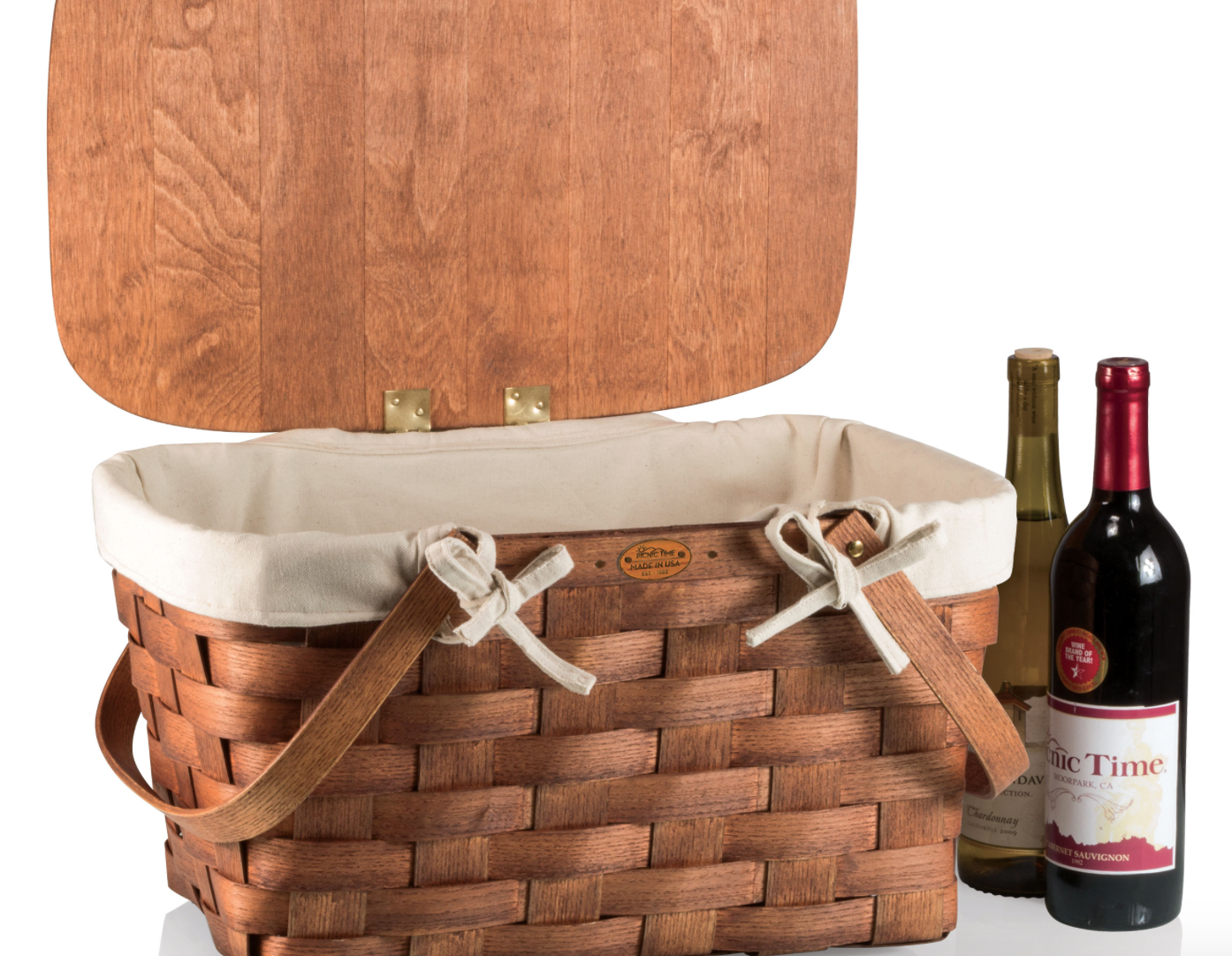 Prairie Picnic Lined Basket