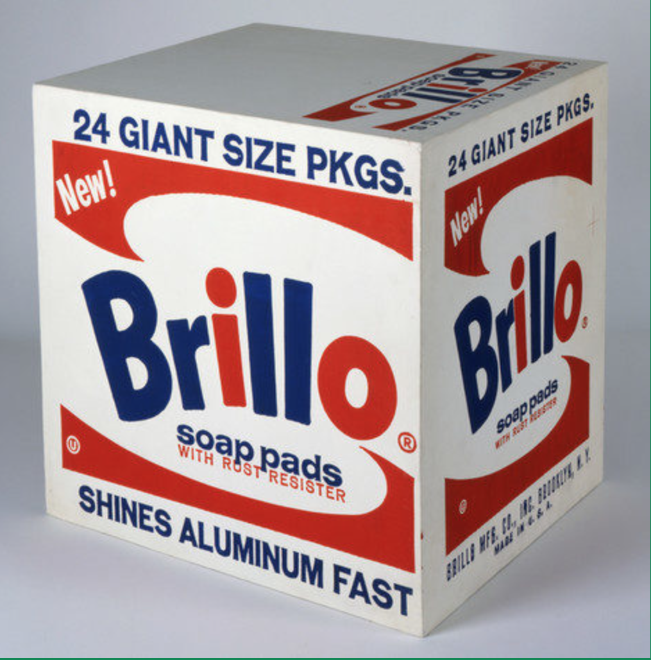Andy Warhol Brillo Soap Pads Box photo from  warhol.org