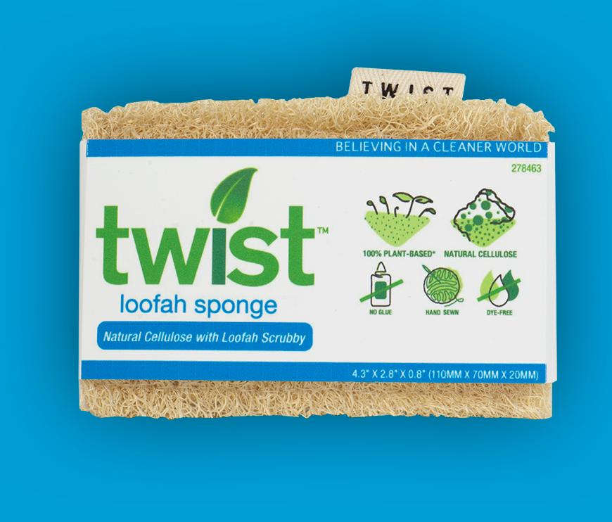 twist loofah sponge