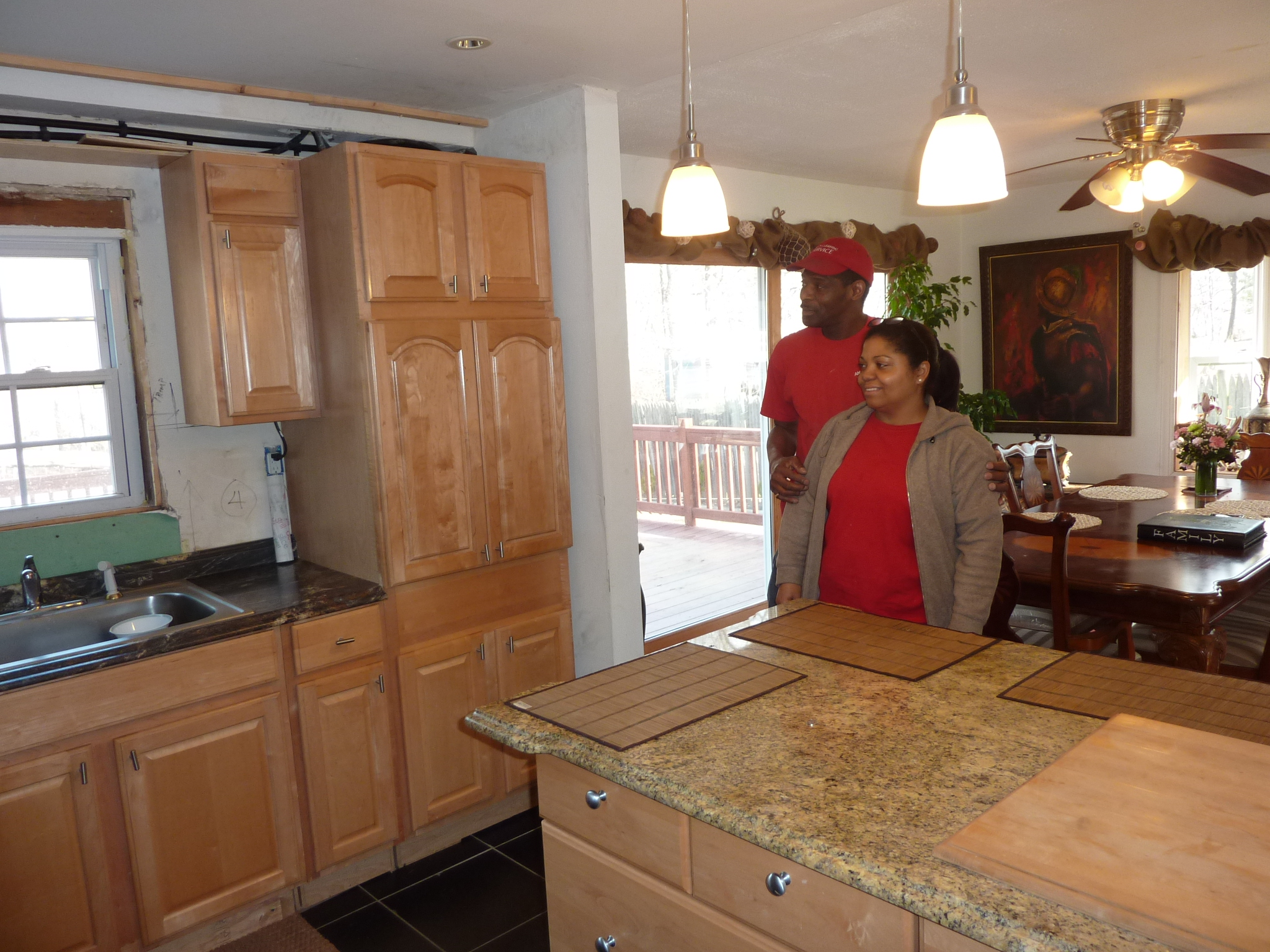 The new layout of the kitchen gives Earl and Ana's home a more open feeling.
