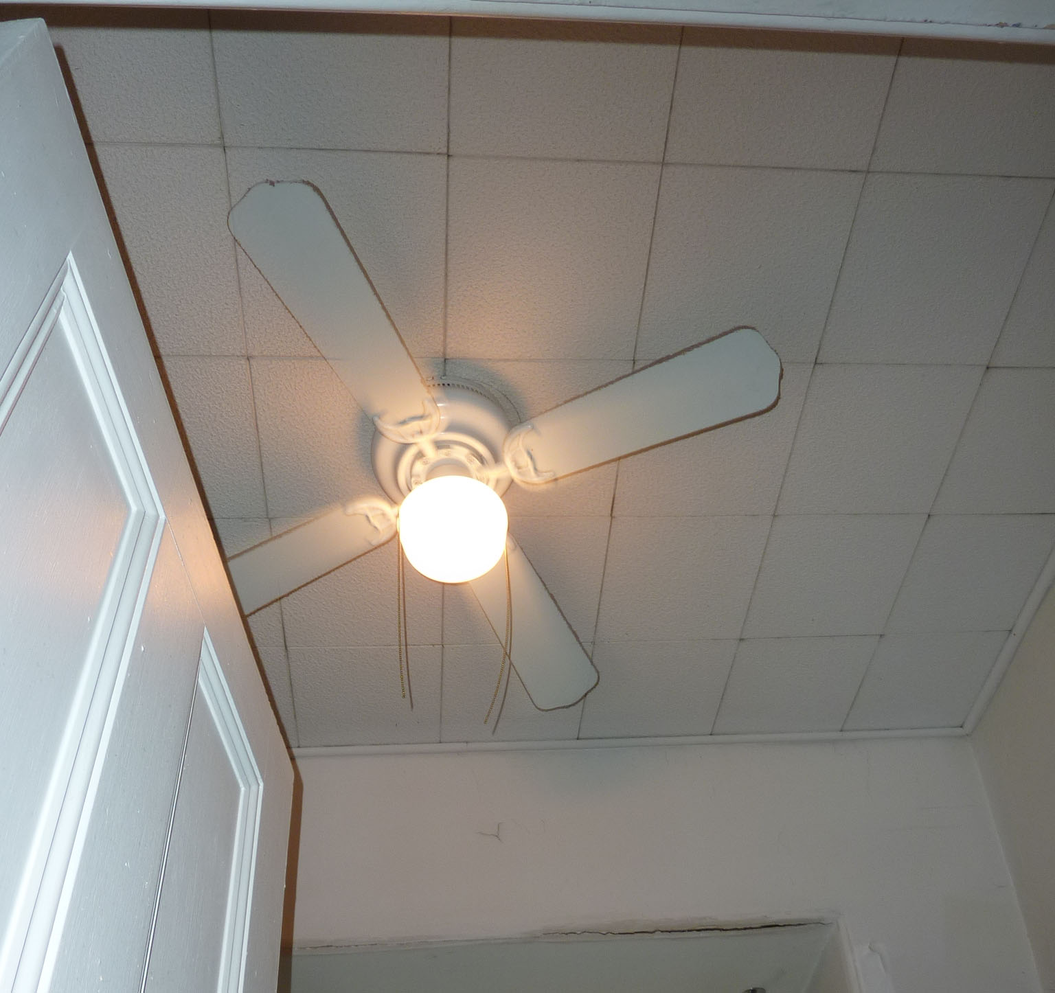A ceiling fan from the Reuse Center