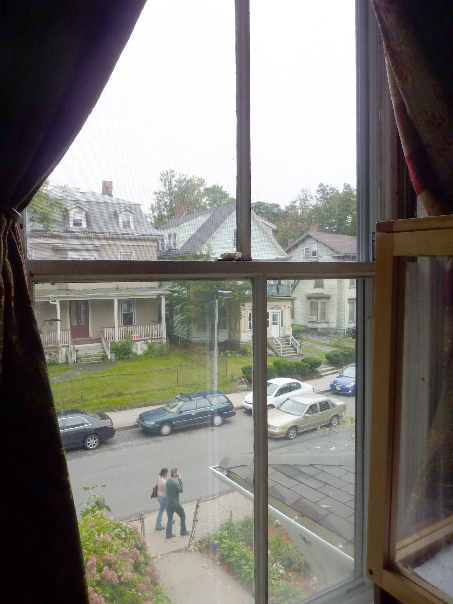 This second-floor window was rehabbed when the co-op hosted BBR's Window Rehab class.