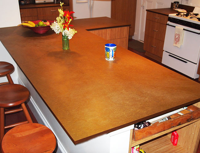 Countertops are paper-based Richlite.