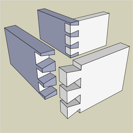 Dovetail joint |  Illustration by SilentC