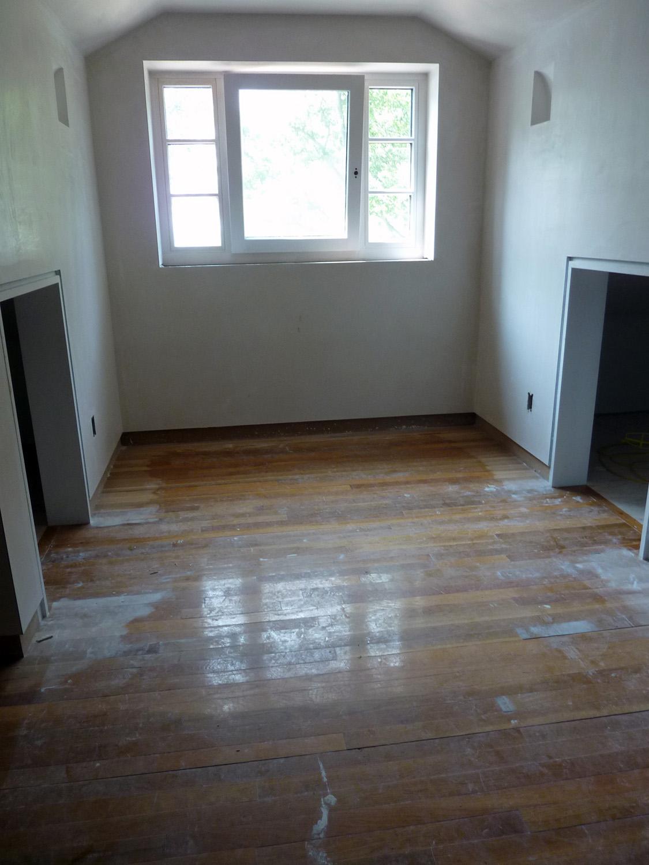 White oak flooring was reused