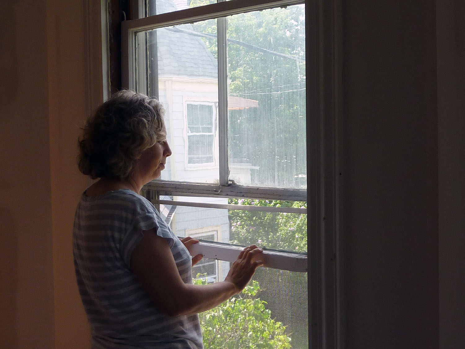 Window restoration has been an ongoing project for Cora.