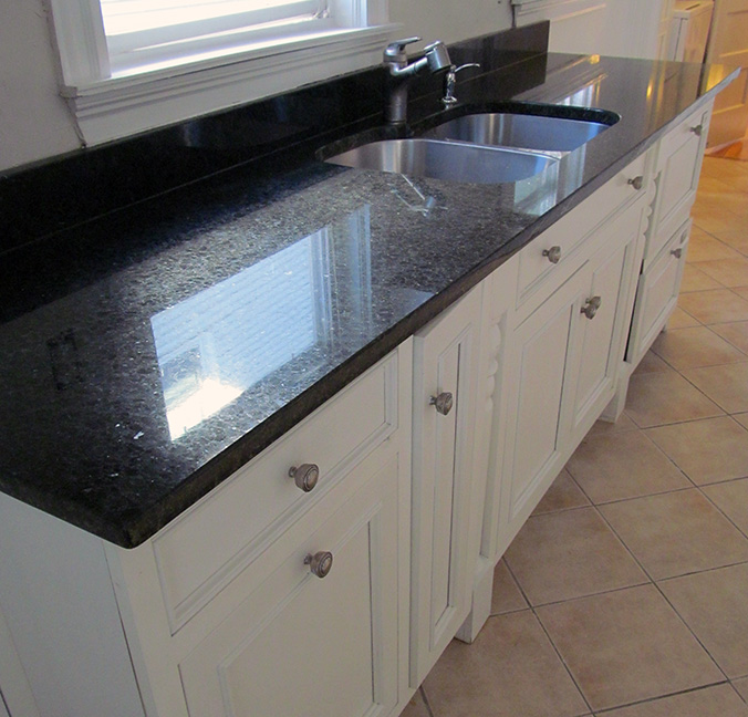 Granite countertops complete the setup.