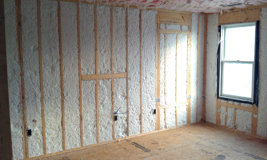 Insulation helps create a tight building envelope to minimize energy used for heating and cooling.  Photo by Jesus Rodriguez     Flickr Creative Commons