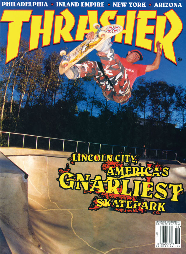 Mark Scott, Lincoln City, OR. Thrasher Magazine. 1999